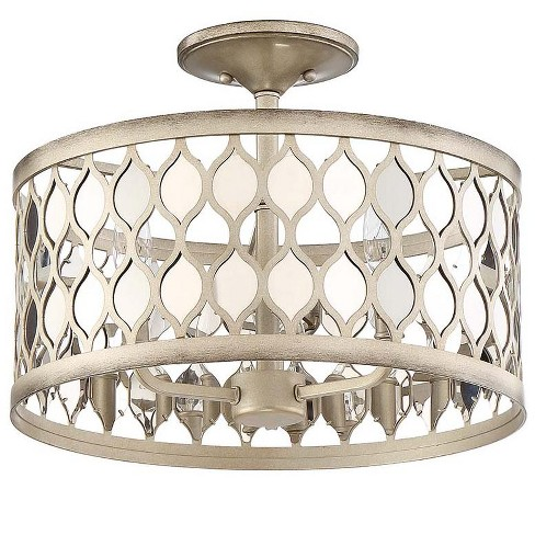 "Park Harbor PHSFL4303 Camberley 3 Light 16-1/2"" Wide Semi-Flush Drum Ceiling Fixture - image 1 of 1"