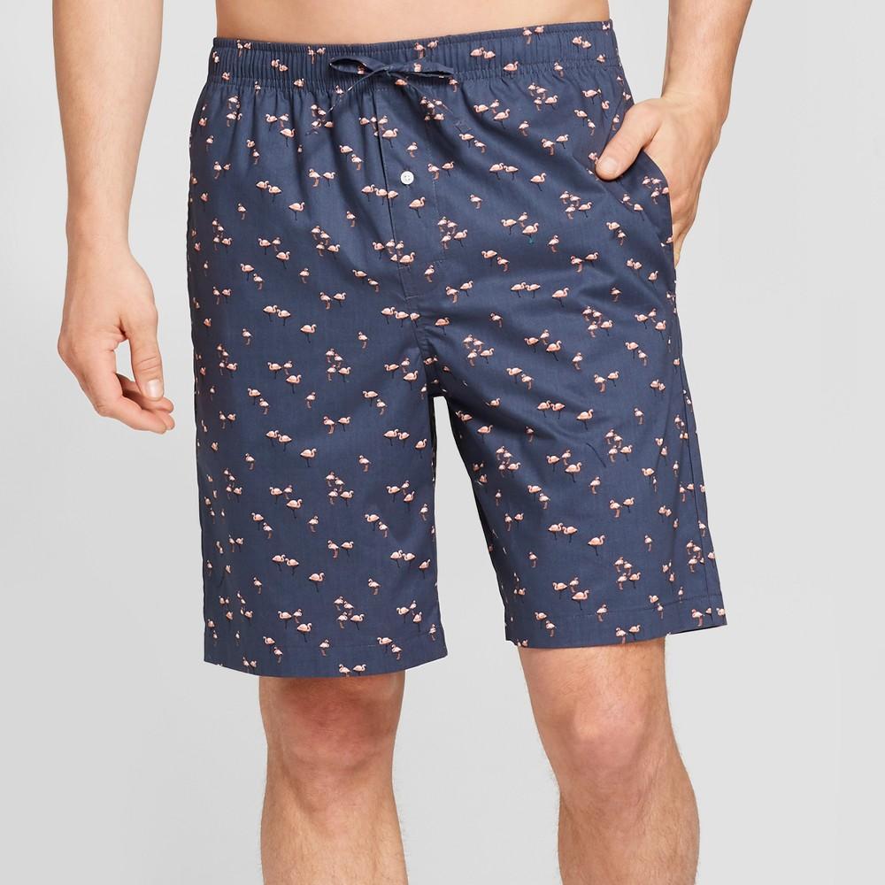 Men's Woven Pajama Shorts - Goodfellow & Co Flamingo M, Blue