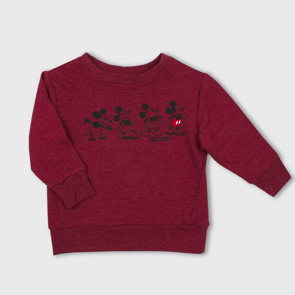 Toddler Boys' Disney Mickey Mouse & Friends Mickey Mouse Sweatshirt - Red 2T