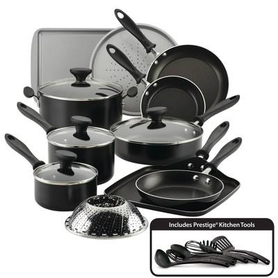 Farberware Reliance 21pc Aluminum Diamond-Reinforced Nonstick Cookware Set Black