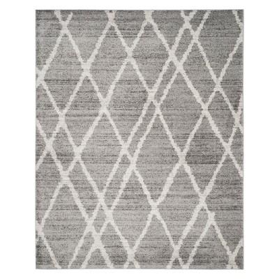 9'X12' Diamond Area Rug Ivory/Silver - Safavieh