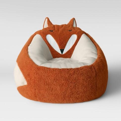 Remarkable Character Bean Bag Pouf Orange Fox Pillowfort Machost Co Dining Chair Design Ideas Machostcouk