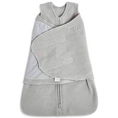HALO Innovations SleepSack Micro Fleece Wearable Blanket - Gray Newborn