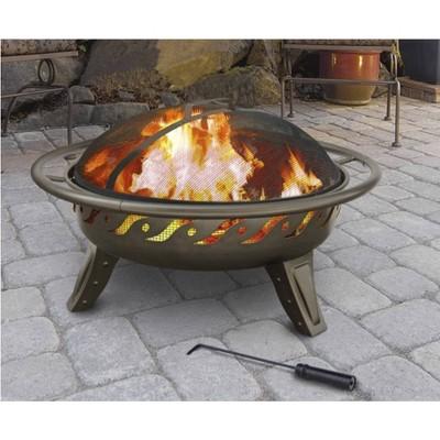 "26"" Patio Lights Firewave Wood Burning Fire Pit - Metalliac Brown - Landmann"