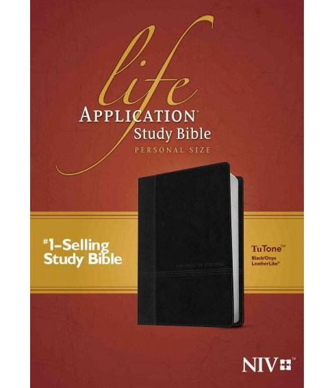 Life Application Study Bible : New International Version, Black / Onyx Leatherlike, Tutone, Personal - image 1 of 1