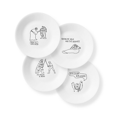 "Corelle Star Wars 6.7"" 4pk Glass Appetizer Plates"