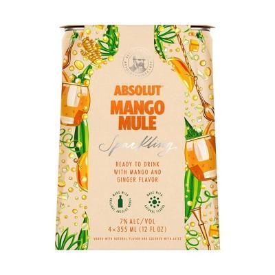 Absolut Mango Mule Sparkling Vodka Cocktail - 4pk/355ml Cans