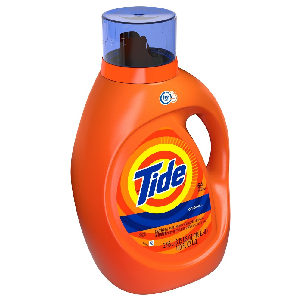 Tide Original Liquid Laundry Detergent - 100 fl oz, Original High Efficiency