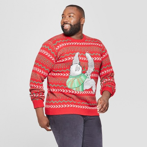 Sloth Ugly Christmas Sweater.33 Degrees Men S Big Tall Ugly Holiday Christmas Hanging Sloth Long Sleeve Pullover Sweater Red