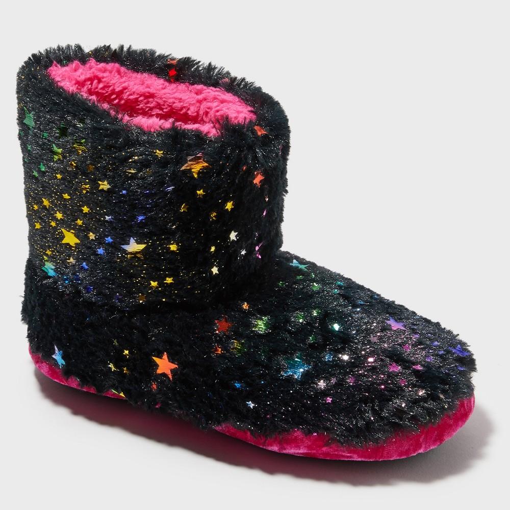 Girls' Dearfoams Bootie Slippers - Black 7-8