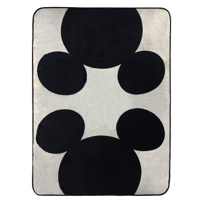 Disney Mickey Mouse Twin Bed Blanket Black/Gray