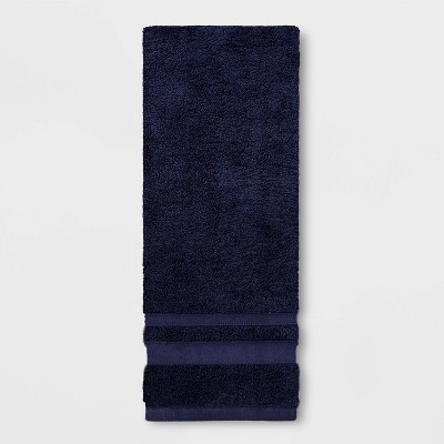 Performance Hand Towel Navy Blue - Threshold™