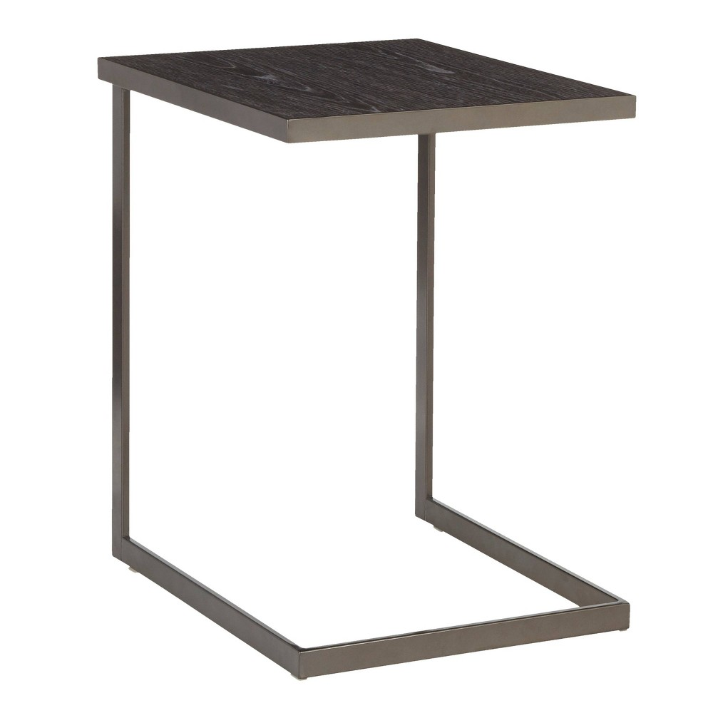 Image of Industrial Zenn End Table Antique Dark Gray - Lumisource