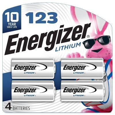 Energizer 4pk 123 Batteries Lithium Photo Battery