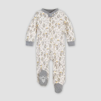 Burt's Bees Baby® Baby Boys' Who Are You Organic Cotton Sleep N' Play Union Suit - Gray Newborn