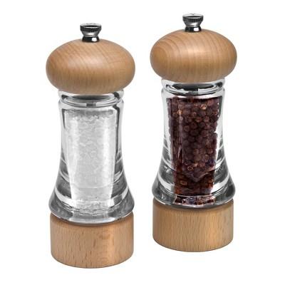 """Cole & Mason 6.5"""" Beech Wood Salt and Pepper Mill Gift Set"""