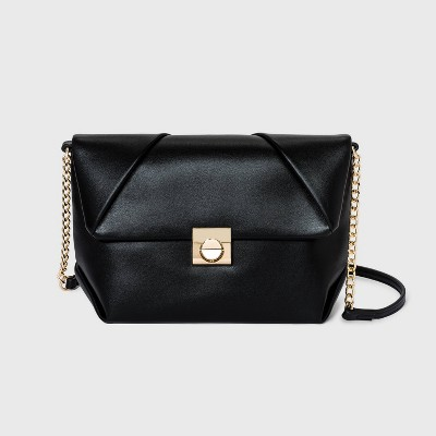 Snap Closure Crossbody Bag - A New Day™ Black