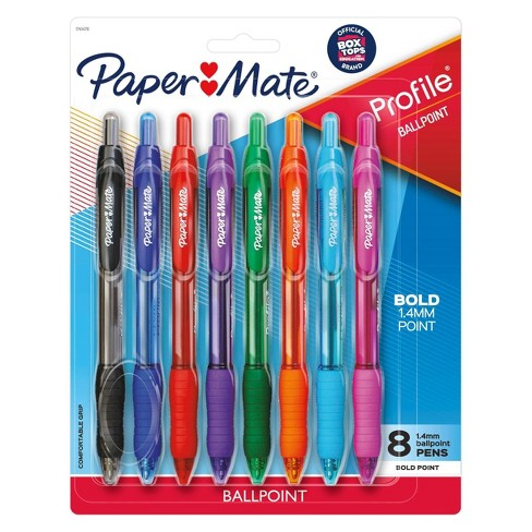 8pk Ballpoint Pens Profile 1.4mm Multicolored - PaperMate - image 1 of 4