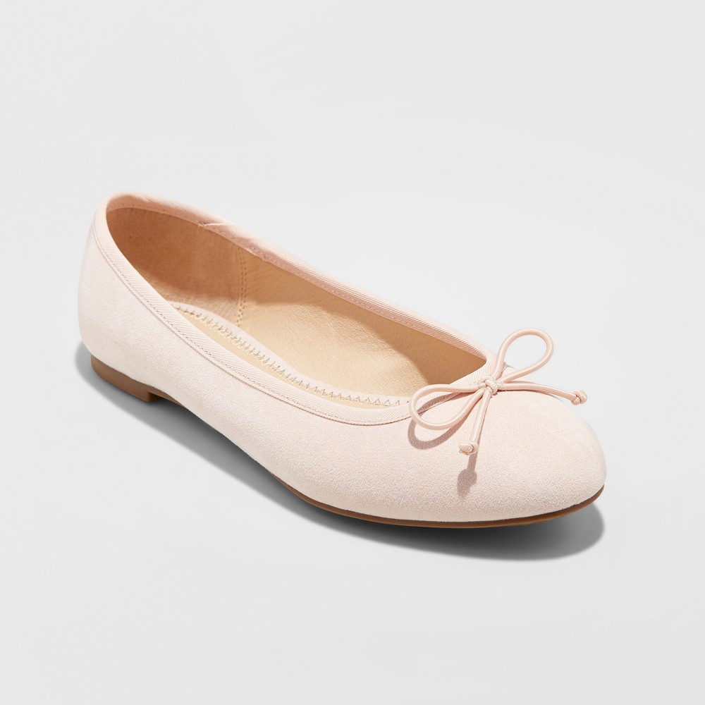 Women's Wide Width Hope Elastic Band Round Toe Mary Jane Ballet Flats - A New Day Mochaccino 11W, Size: 11 Wide