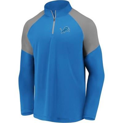NFL Detroit Lions Men's Long Sleeve 1/4 Zip T-Shirt