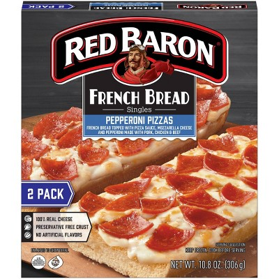 Red Baron French Bread Pepperoni Frozen Pizza - 10.8oz/2pk