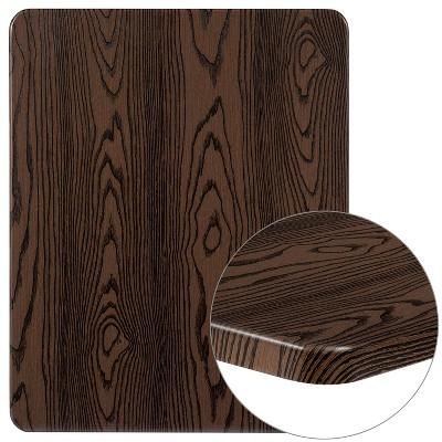 "Flash Furniture 24"" x 30"" Rectangular Rustic Wood Laminate Table Top"