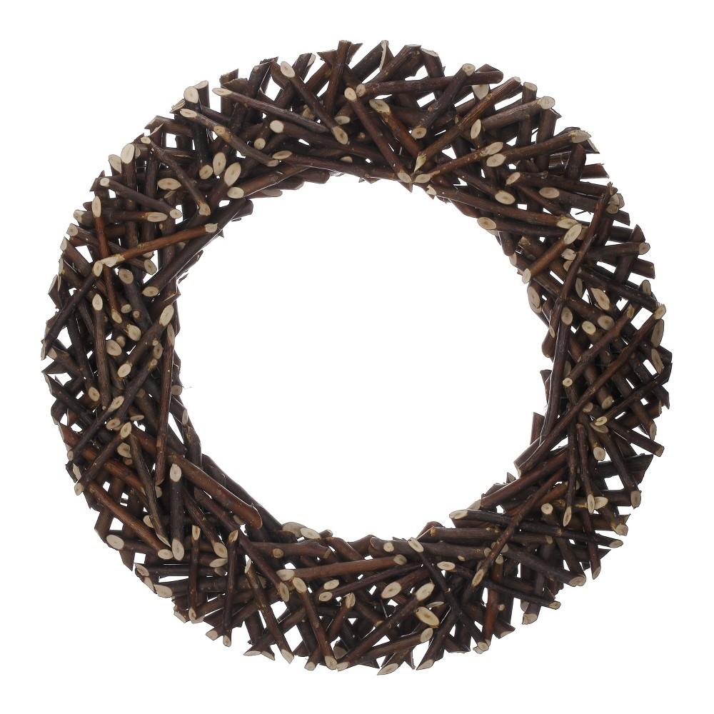 13 Wreath Dried Twig Wreath Brown - Threshold