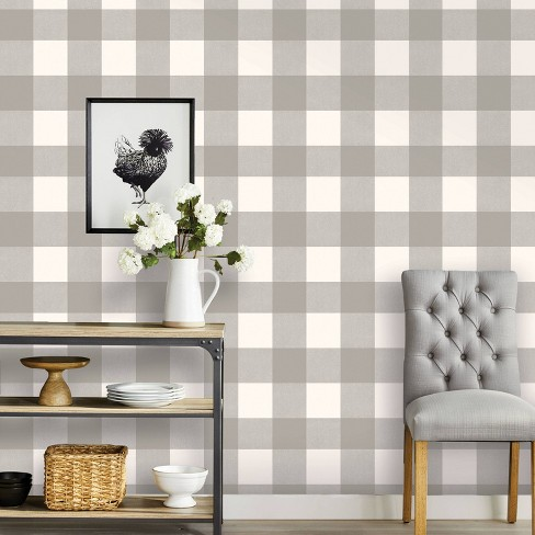 Buffalo Plaid Peel & Stick Wallpaper - Threshold™ - image 1 of 4