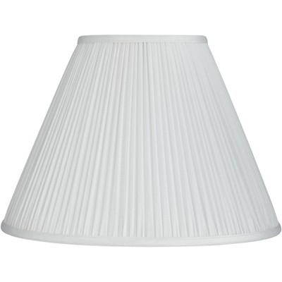 Springcrest White Mushroom Pleated Empire Lamp Shade 7x16x12 (Spider)