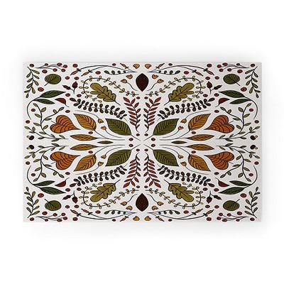 Alisa Galitsyna Fall Pattern II Looped Vinyl Welcome Mat - Society6