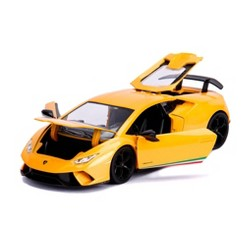 Jada Toys HyperSpec Lamborghini Huracan Performante Die-Cast Vehicle 1:24 Scale Yellow