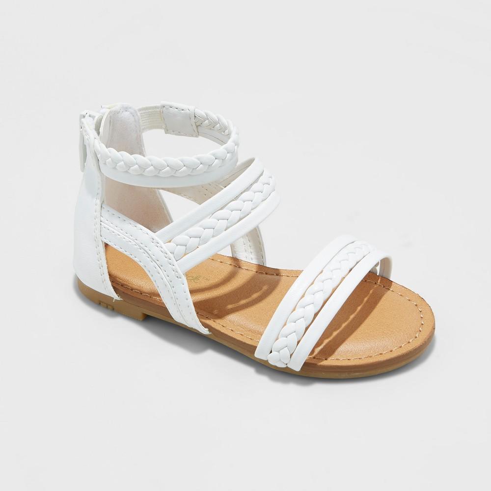 Toddler Girls' Naudia Gladiator Sandals - Cat & Jack White 10