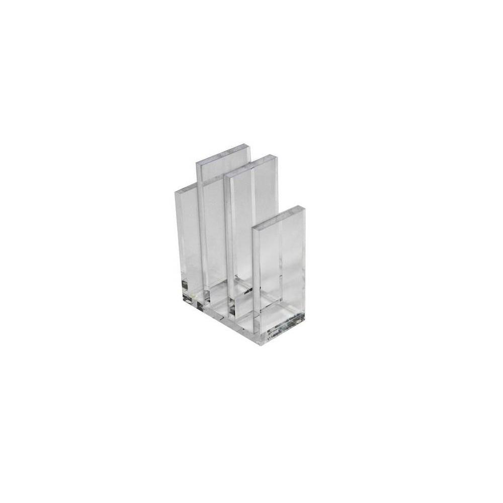 Azar Displays 2pk Acrylic File Sorter Bookend