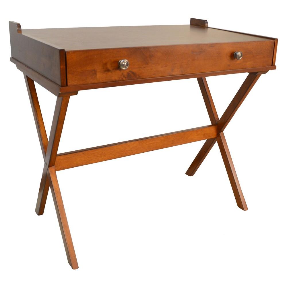 Linnea Flip Top Desk - Chestnut (Brown) - Carolina Chair and Table