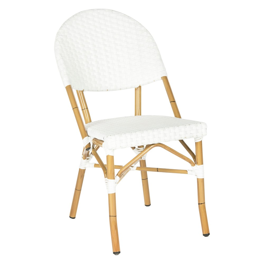 2 Pc Marselle Wicker Patio Side Chair - Off White - Safavieh