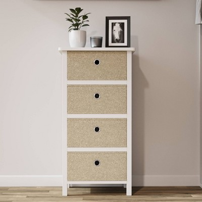 Four Drawer Fabric Storage Chest - Brookside Home