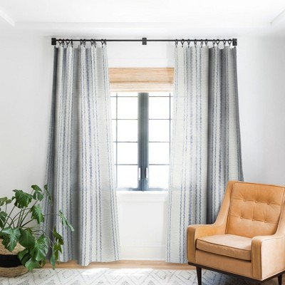 Holli Zollinger AEGEAN MULTI STRIPE Single Panel Blackout Window Curtain - Deny Designs