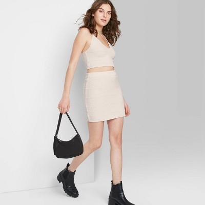 Women's Bodycon Mini Sweater Knit Skirt - Wild Fable™