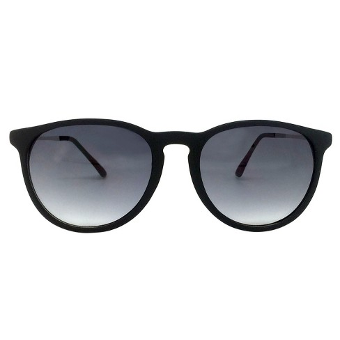 Women's Round Sunglasses - A New Day™ Black - image 1 of 3