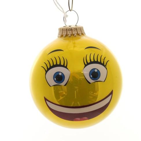 "Holiday Ornaments 3.25"" Full Sun Emotion Ball Ornament Emoji  - - image 1 of 2"