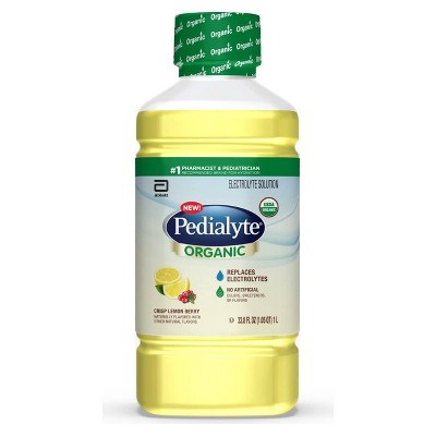 Pedialyte Organic Oral Electrolyte Solution - Crisp Lemon Berry - 33.8 fl oz
