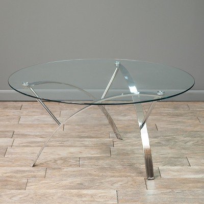 Marin Coffee Table Round Clear - Christopher Knight Home : Target