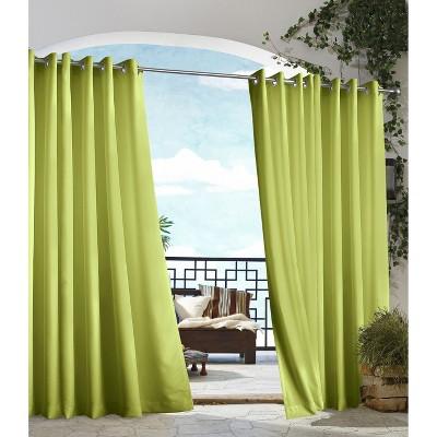 'Outdoor Décor Gazebo Solid Indoor/Outdoor Grommet Top Curtain Panel - Green (50''x84''), Size: 50x84'''