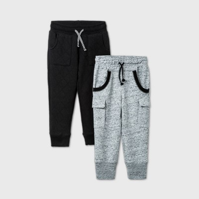 Toddler Boys' 2pk Jogger Pants - Cat & Jack™ Gray/Black