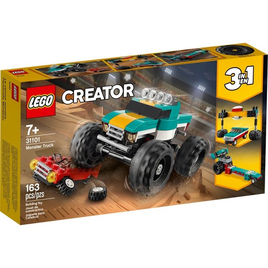 LEGO Creator 3-in-1 Monster Truck Cool Building Kit 31101 image number null