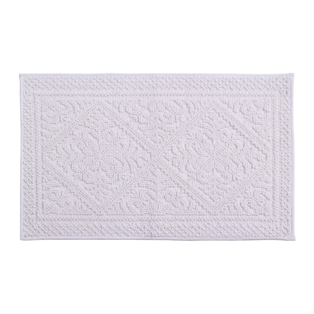 Provence Jacquard Bath Rug White
