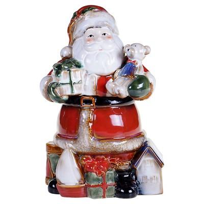 Certified International Santa's Workshop 3-D Santa Cookie Jar (11.5 )