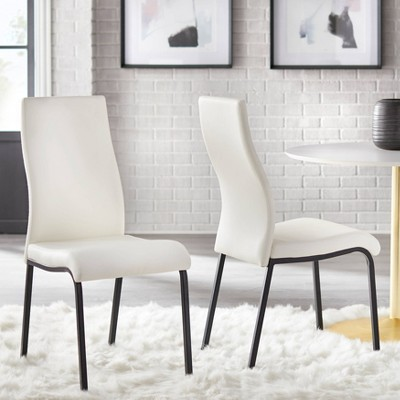 Set of 2 Nora Dining Chairs White - Buylateral