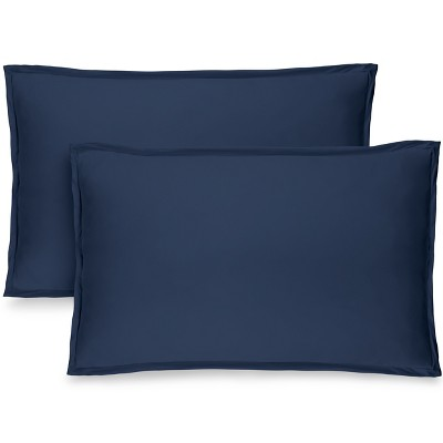 Bare Home Solid Microfiber Pillow Sham Set