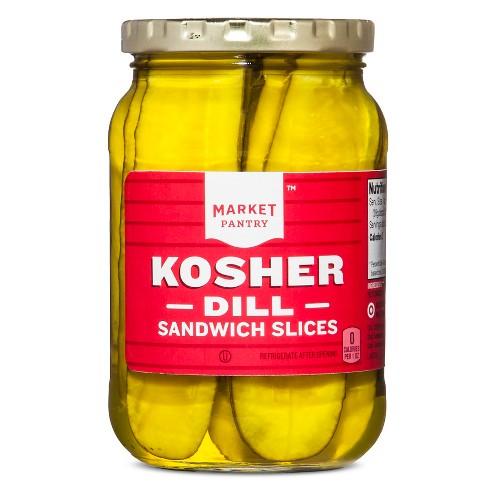 Kosher-Dill Pickles Sandwich Sliced - 16oz - Market Pantry™ - image 1 of 2